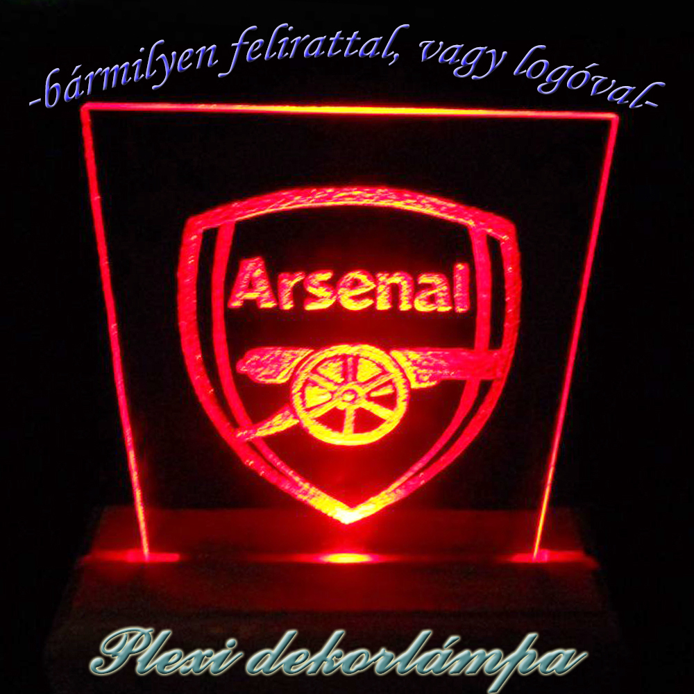 Arsenal dekorlámpa