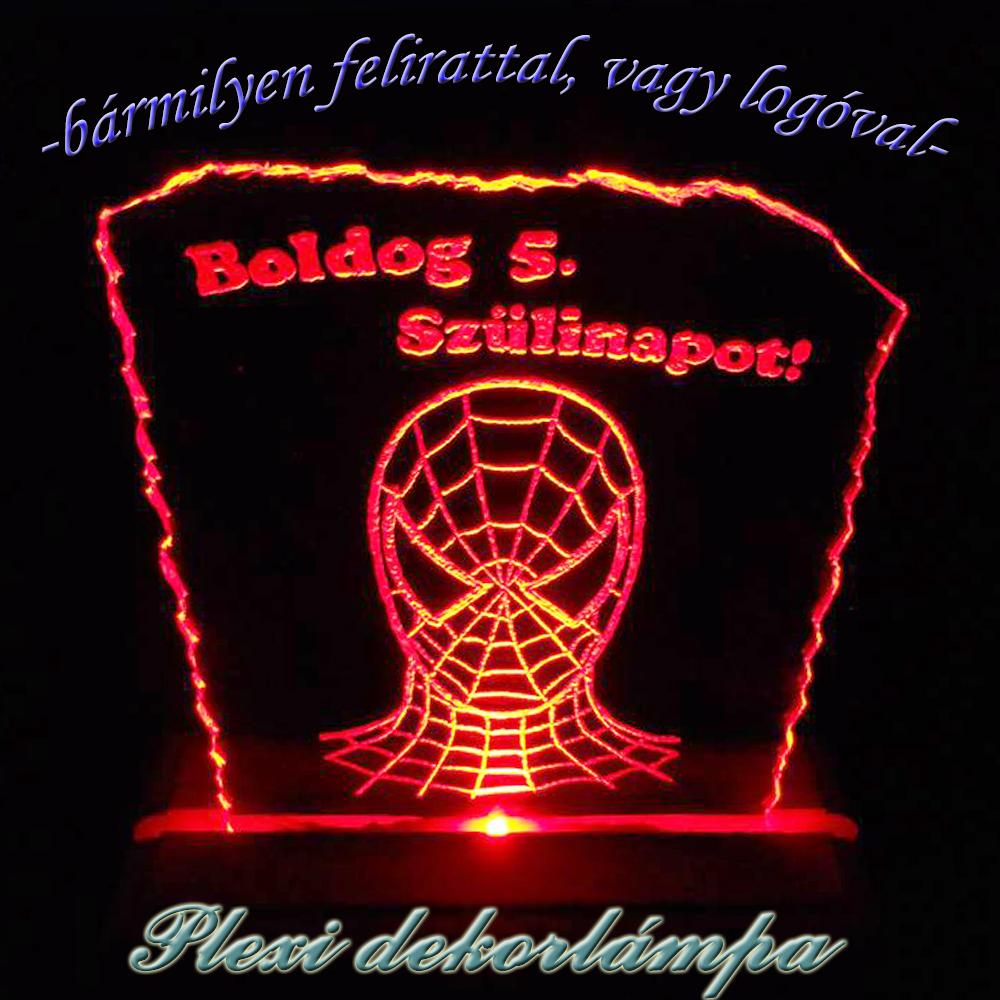 Pókember dekorlámpa