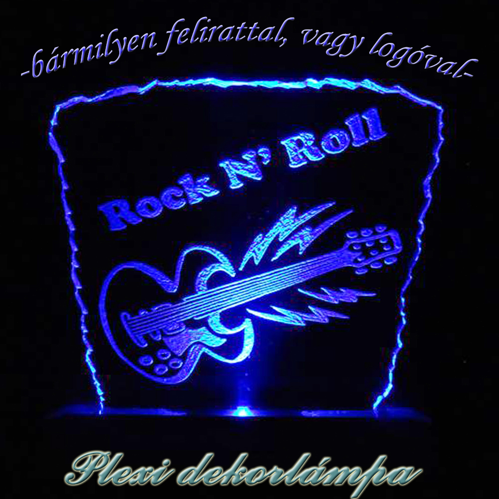 Rock N' Roll dekorlámpa