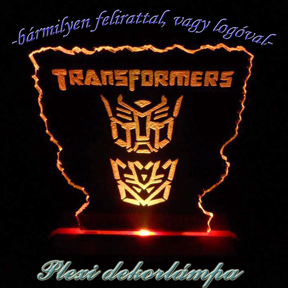 Transformers dekorlámpa