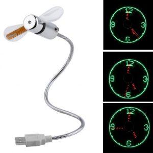 USB LED óra ventilátor
