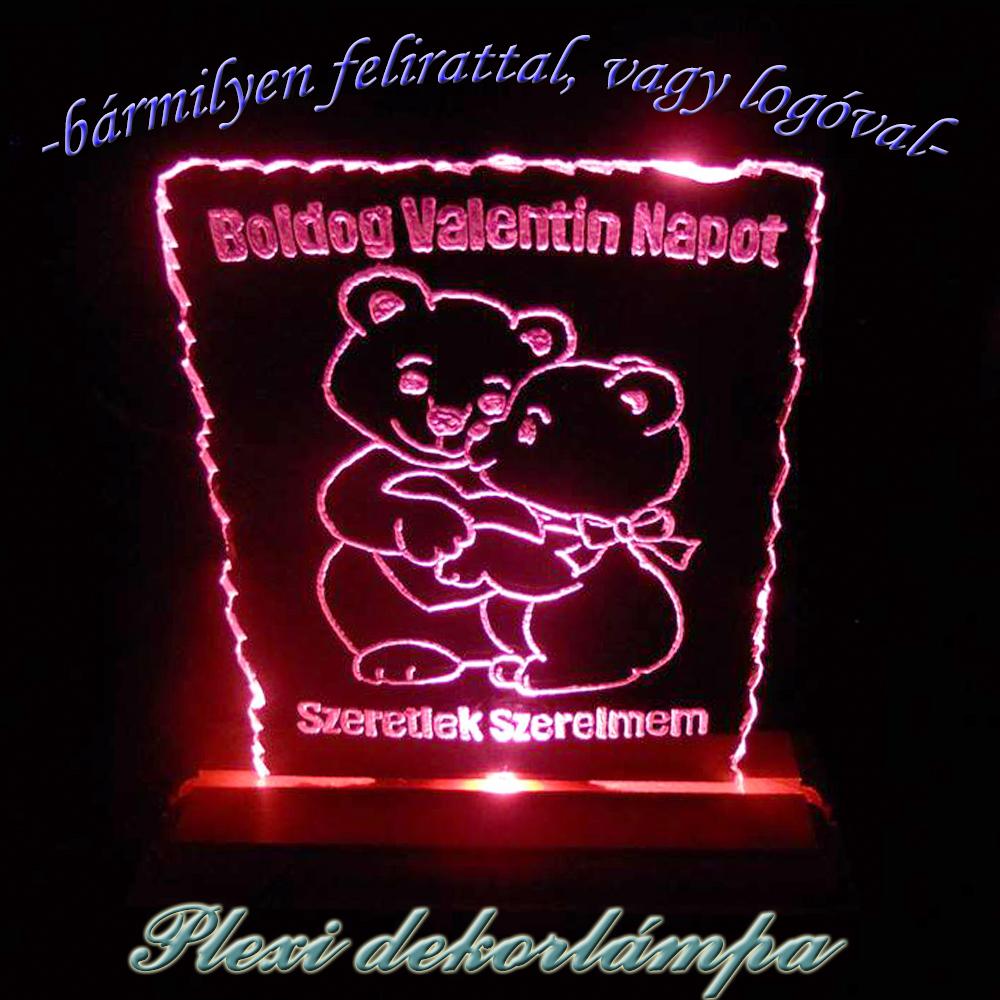 Valentin napi dekorlámpa